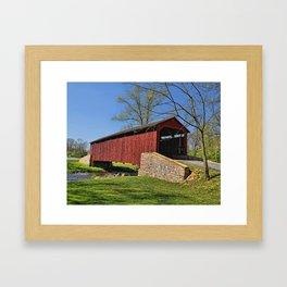 Pool Forge Covered Bridge Framed Art Print