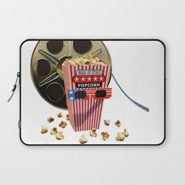 3D Movie Reel and Buttered Popcorn Laptop Sleeve