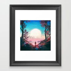 BLANK FUTURE (everyday 05.07.17) Framed Art Print