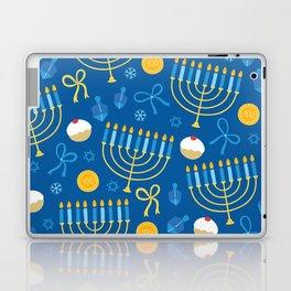 Hanukkah Menorah Pattern Laptop & iPad Skin