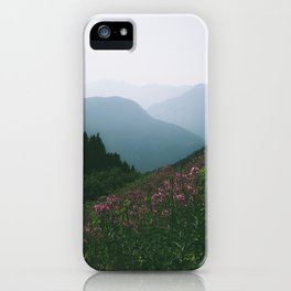 Mountains & Flowers iPhone Case