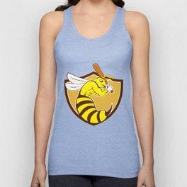 Killer Bee Baseball Player Bat Crest Cartoon Unisex Tank Top
