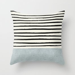 Silver x Stripes Throw Pillow