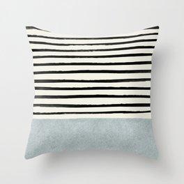 Silver x Stripes Throw Pillow