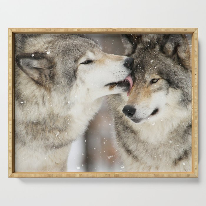 Wolf Kisses Serving Tray