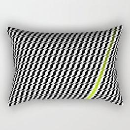 A Stripe of Green Rectangular Pillow