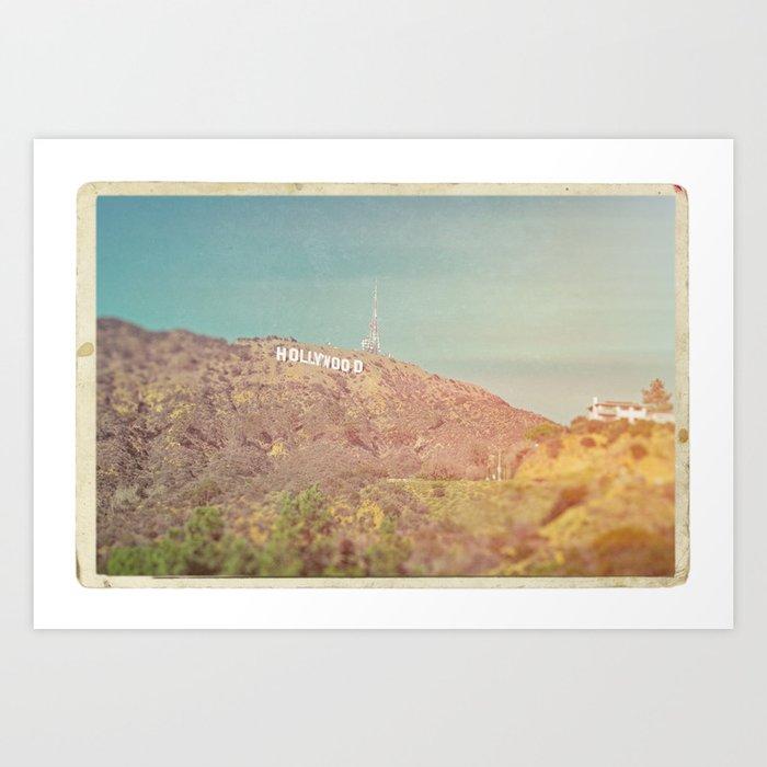 Hollywood Sign Vintage Art Print