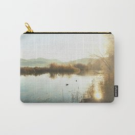 Autumn Lake Tranquility Carry-All Pouch