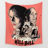 tarantino Wall Tapestries featuring Kill Bill by RJ Artworks