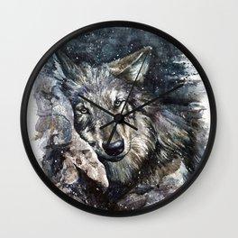 Wolf life Wall Clock