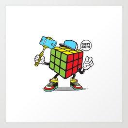 Funny Rubik's Cube Art Print