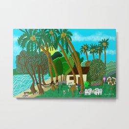 Whispering Palms Vanuatu Island Metal Print
