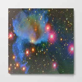 A Nebula showing off its colors Metal Print