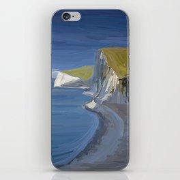 White Cliffs in Dorset UK Seascape iPhone Skin