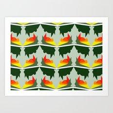 Burning Ships Art Print