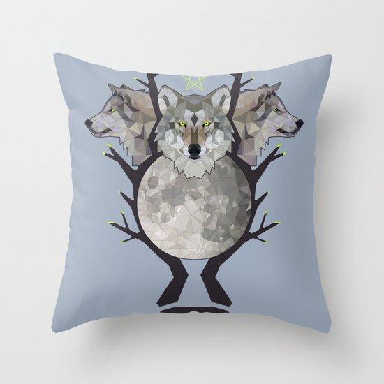wolfmoon Throw Pillow
