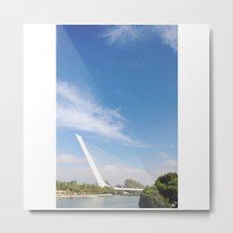 Arrived in Seville, ES to this great bridge; Puente del Alamillo Metal Print
