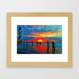 Surf Fishing Hatteras Framed Art Print