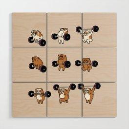 OLYMPIC LIFTING English Bulldog Wood Wall Art
