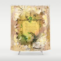 poem Shower Curtains featuring Love Poem by Lucia
