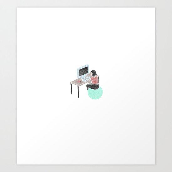 Office Bounce Art Print