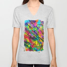 Colorful Abstract Unisex V-Neck