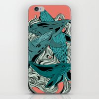 whales iPhone & iPod Skins featuring Whales by melcsee