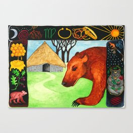 Earth Bear Healing Canvas Print