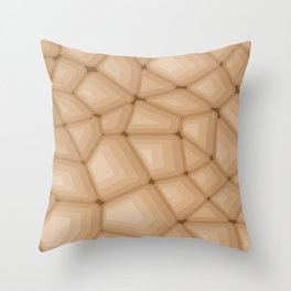 BROWN STONE Abstract Art Throw Pillow