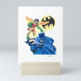 Masked Heroes / Dynamic Duo by Peter Melonas Mini Art Print