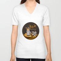 bar V-neck T-shirts featuring Milk Bar by Heather Leigh Clark