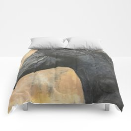 Blue grey Comforters