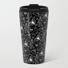 Cryptid Pattern: White Lines Travel Mug