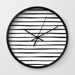Irregular Stripes (Black) Wall Clock