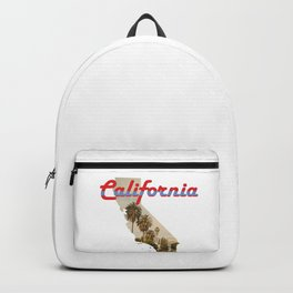 California State Map Outline Backpack