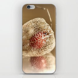 Physalis on gold iPhone Skin