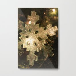 Sparkling Snowflake Metal Print