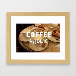 COFFEEaholic Framed Art Print