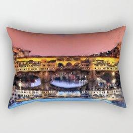 Florence, Ponte Vecchio Rectangular Pillow