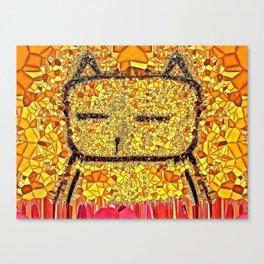 Sunbathing Cat Canvas Print