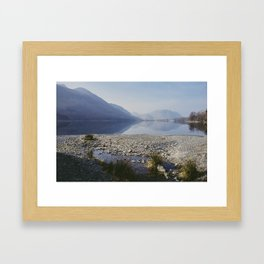 buttermere reflections. lake district, uk. Framed Art Print