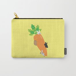 Giant Carrot and Bunnies Carry-All Pouch