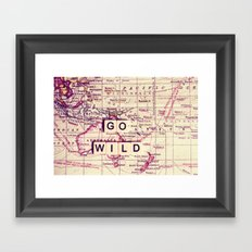 go wild Framed Art Print