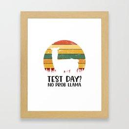 Test Day? No Prob Llama Framed Art Print