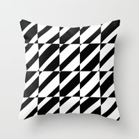 grid Throw Pillows featuring Grid by Laura Maria Designs