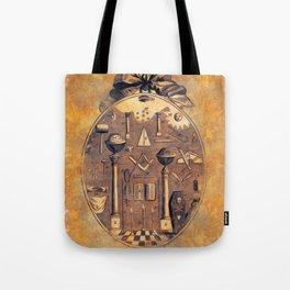 Symbols of the Freemasons Tote Bag