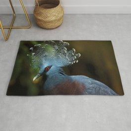 Victoria Crowned Pigeon Rug