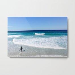 St Clair Surf, Dunedin NZ Metal Print