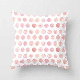 Watercolor Polka Dot Throw Pillow