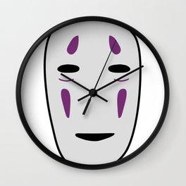 No-face mask Kaonashi Wall Clock